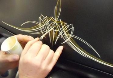 Pinstripe verf